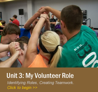 Unit 3: My Volunteer Role