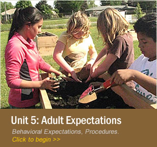 Unit 5: Adult Behavioral Expectations