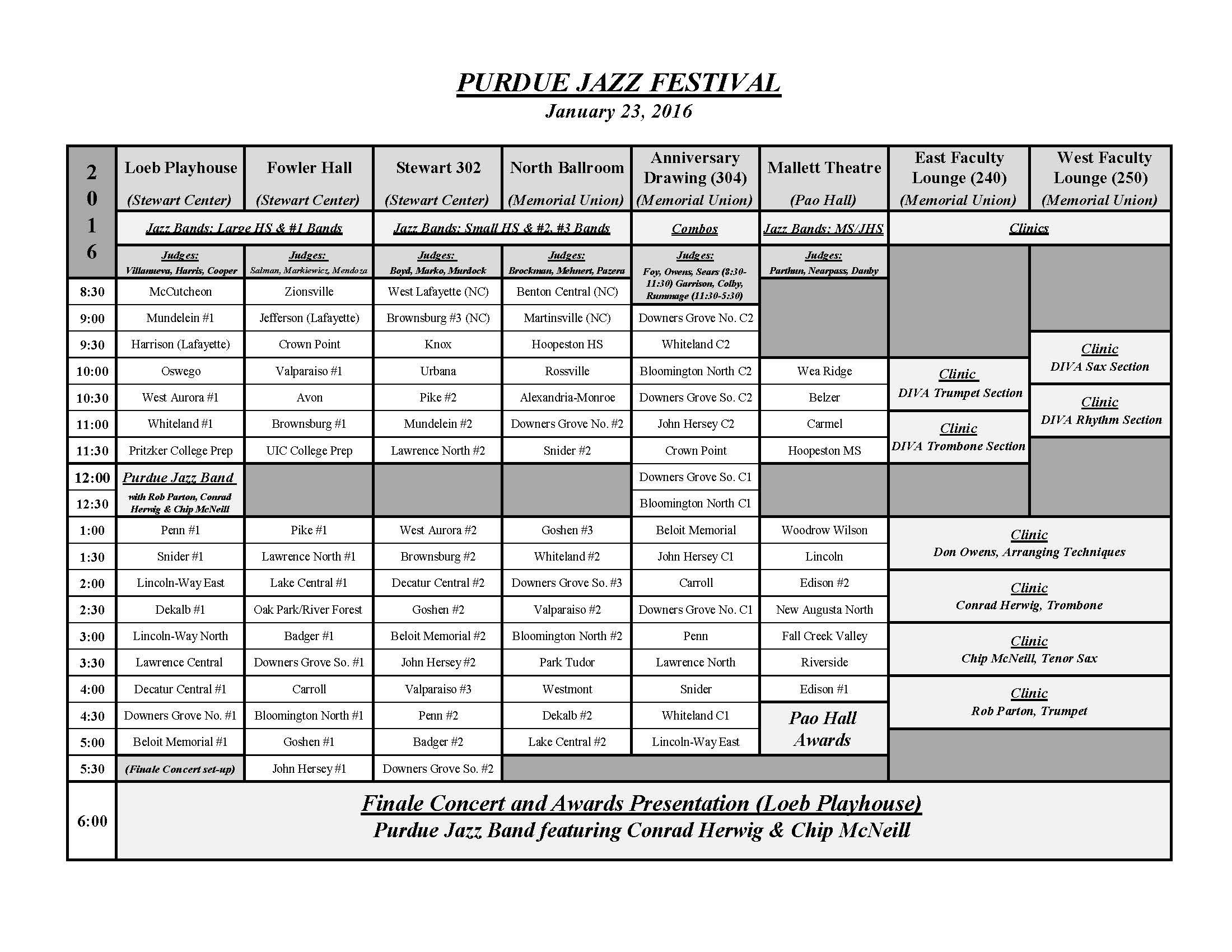 Purdue Jazz FestivalPurdue University Purdue Bands & Orchestras