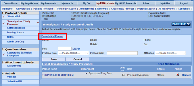 Office for Human Research Protections Database