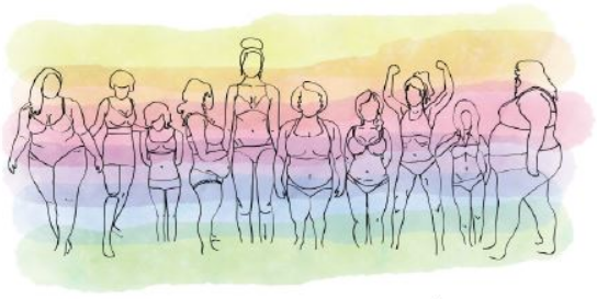 drawing of different body types
