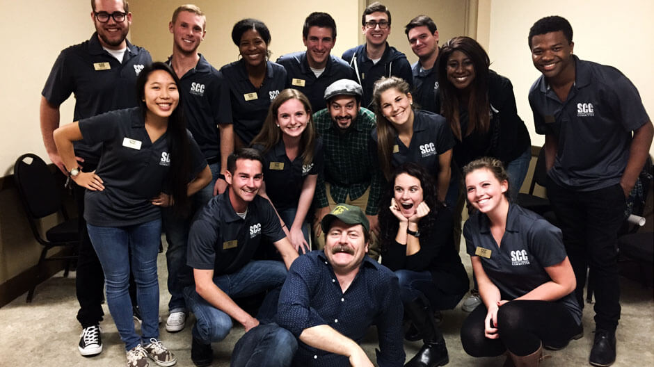 Student Concert Committee with Nick Offerman