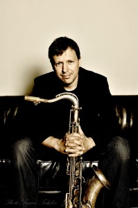 Chris Potter posing with his Saxophone