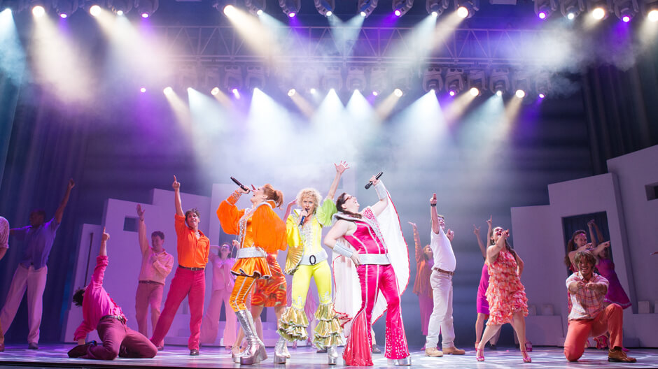 Mamma Mia! dancers perform the hits of ABBA