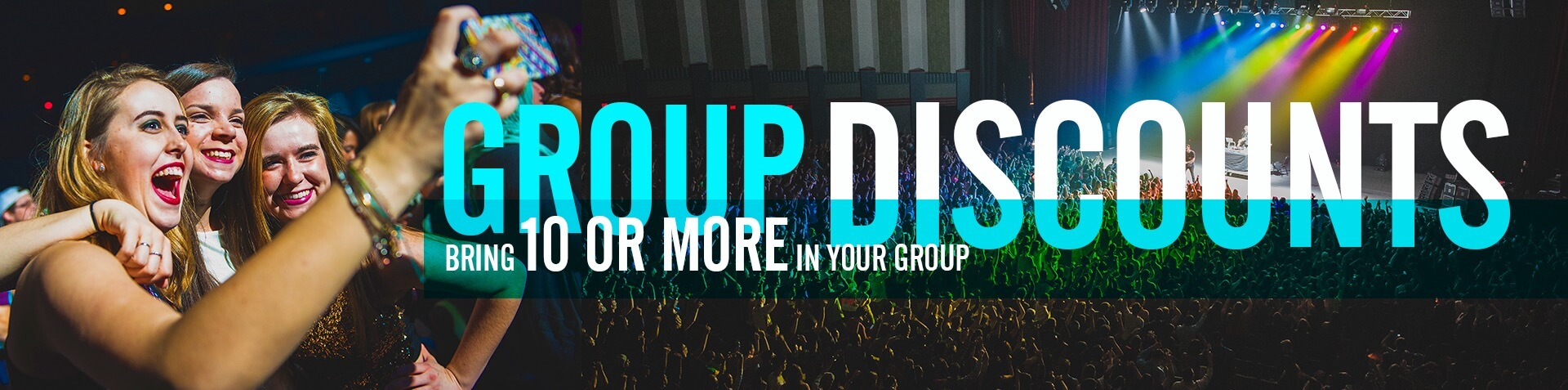 Group Discounts and group sales when you bring 10 or more people