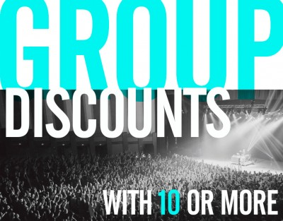Group Discounts with 10 or more