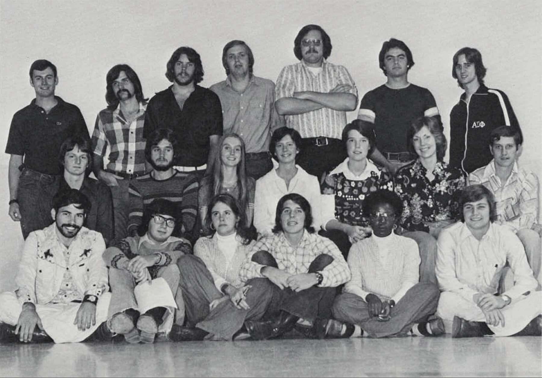 The original Student Concert Committee in 1976