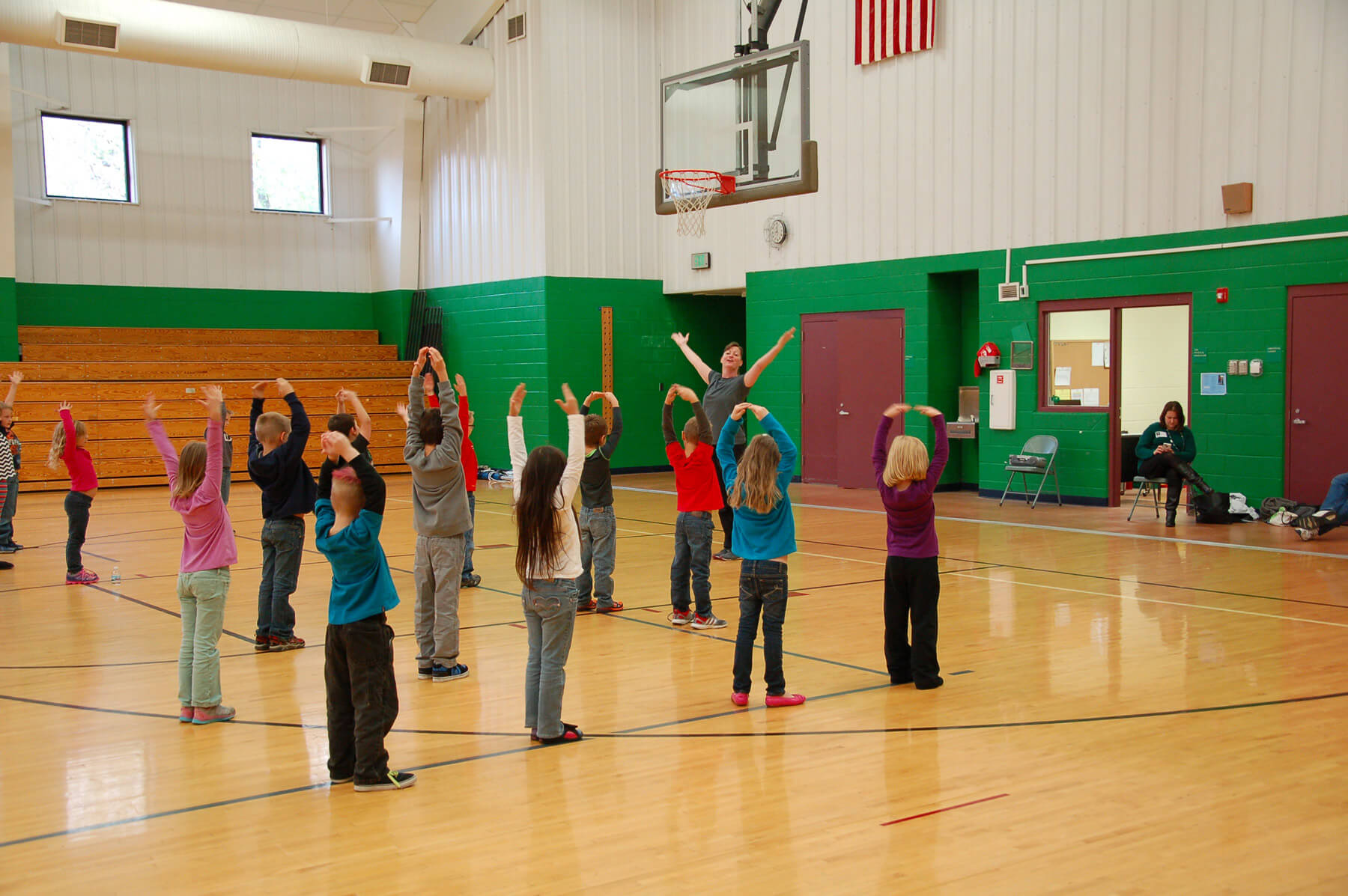 students learn from Dance Kaleidoscope instructor Liberty Harris