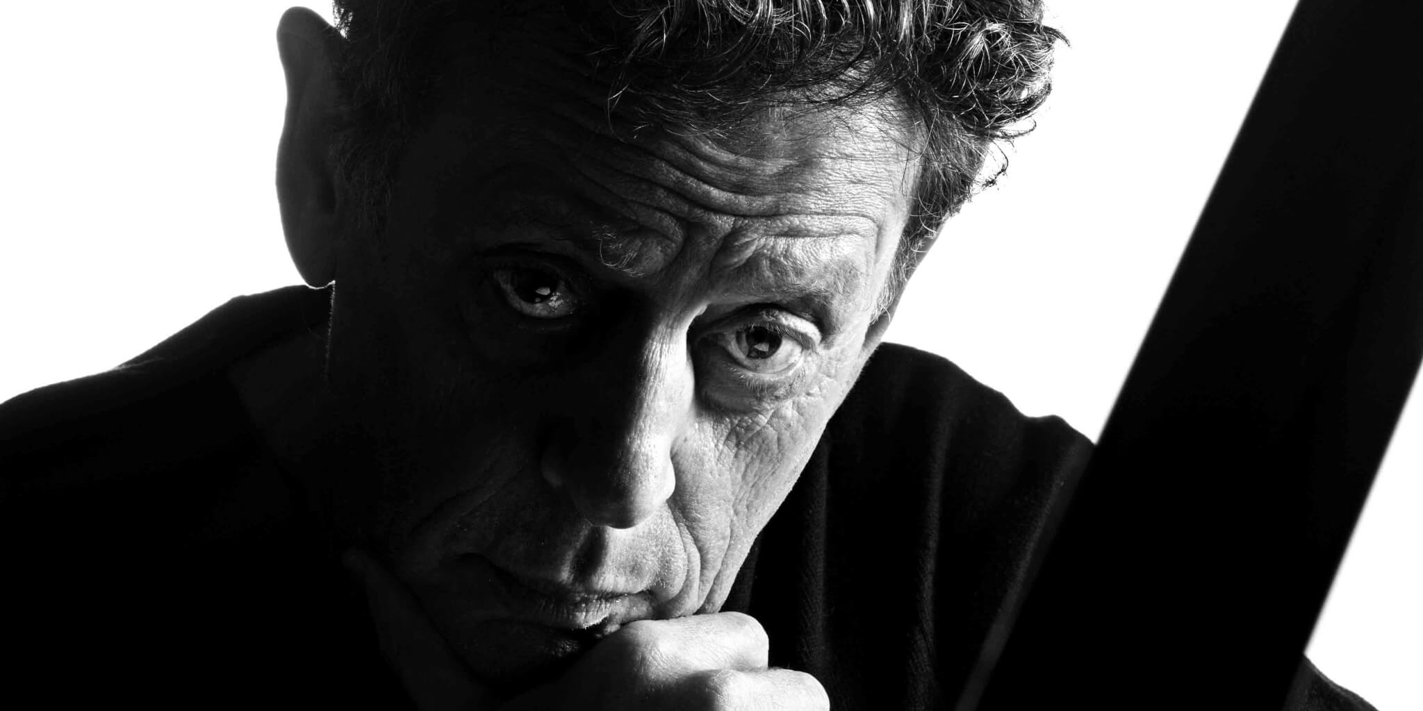 Philip Glass close up