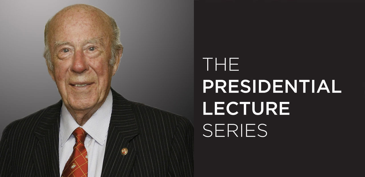 George Shultz - The Presidential Lecture Series