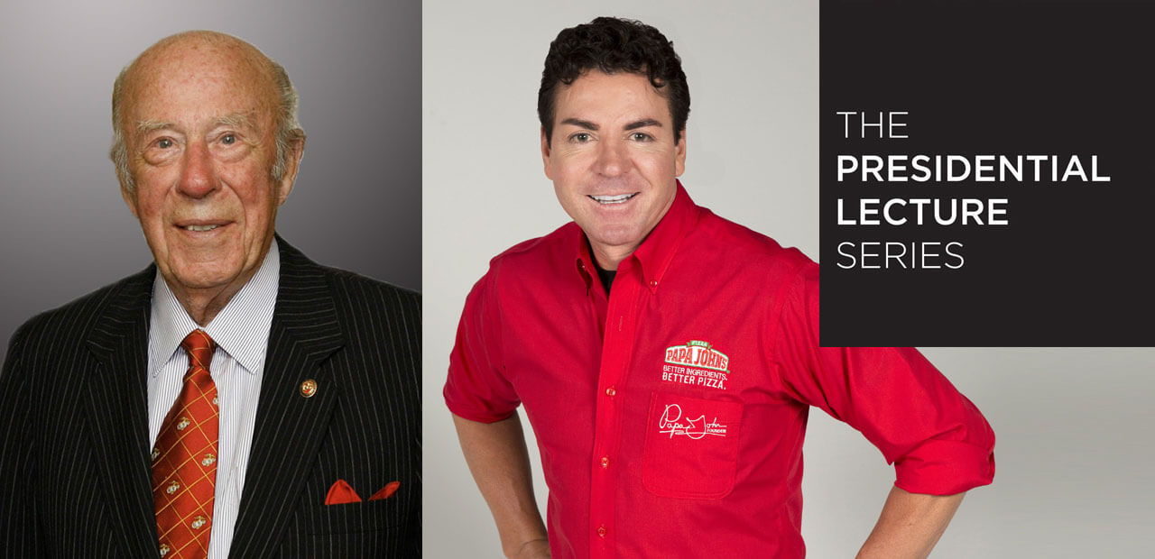George Shultz and John Schnatter - The Presidential Lecture Series