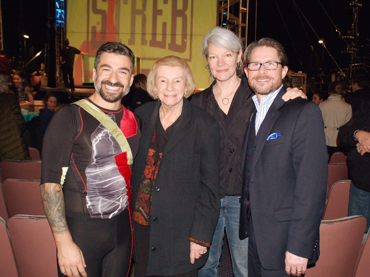 Jeanne Compton with STREB and Todd Wetzel