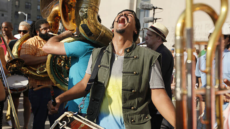 Sunny Jain from Red Baraat during NPR Field Recording Session