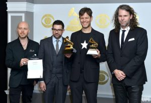 Donny McCaslin and band members accepted GRAMMY awards for their work on David Bowie's Blackstar