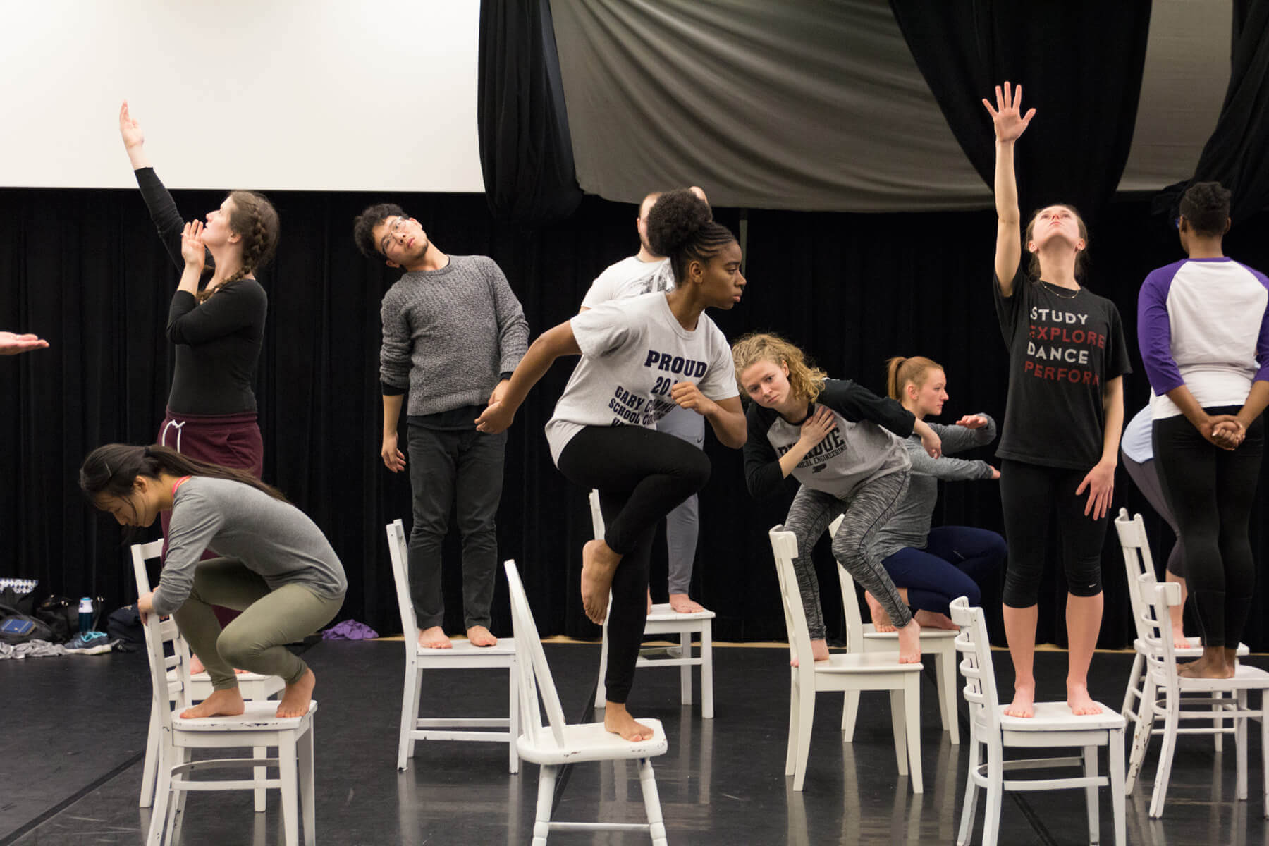 "Chicago dance company The Seldoms conducted ""Bodies on the Gears"" dance workshop for Purdue Dance students"
