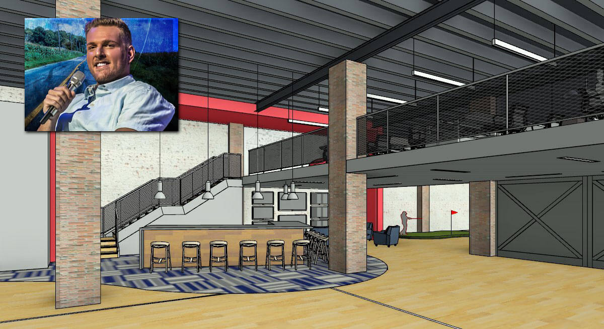 rendering of Pat McAfee's Barstool Heartland headquarters in Indianapolis