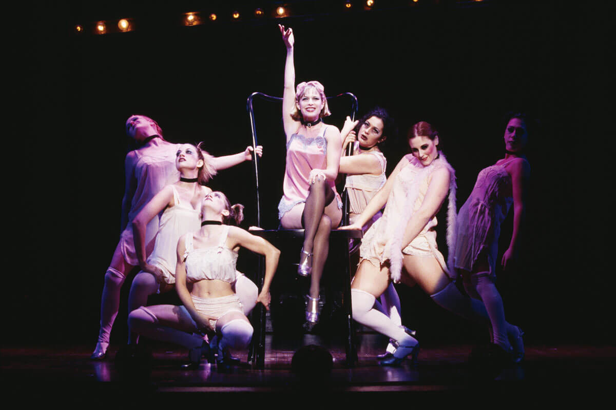 Sally Bowles and cast from Cabaret