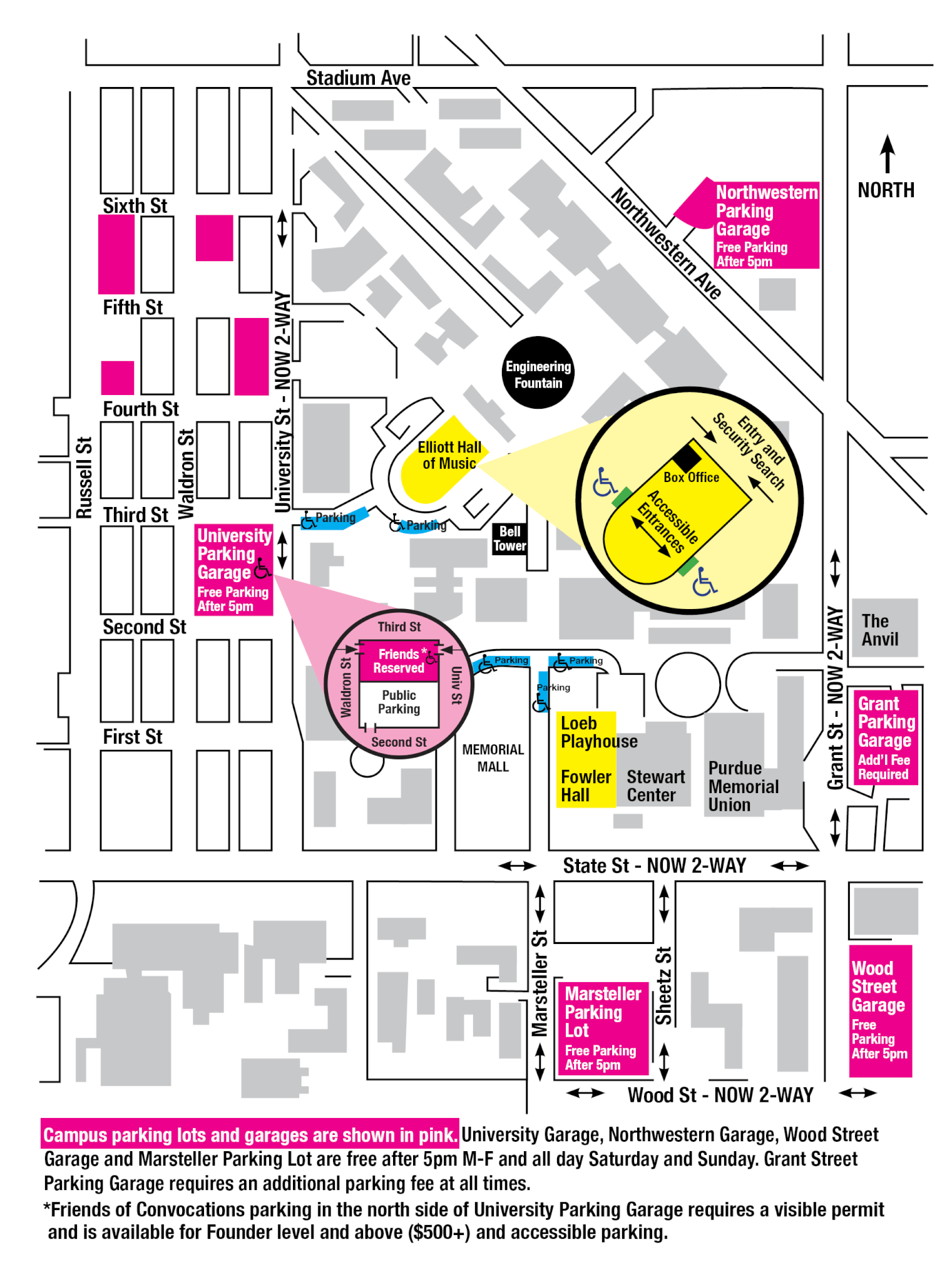 Purdue University Campus Map Directions & Parking   Purdue Convocations