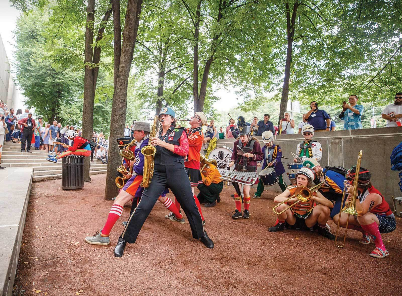 Chicago's Mucca Pazza marching to Purdue in September