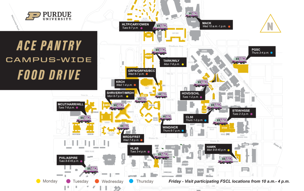 ACE Food Drive map