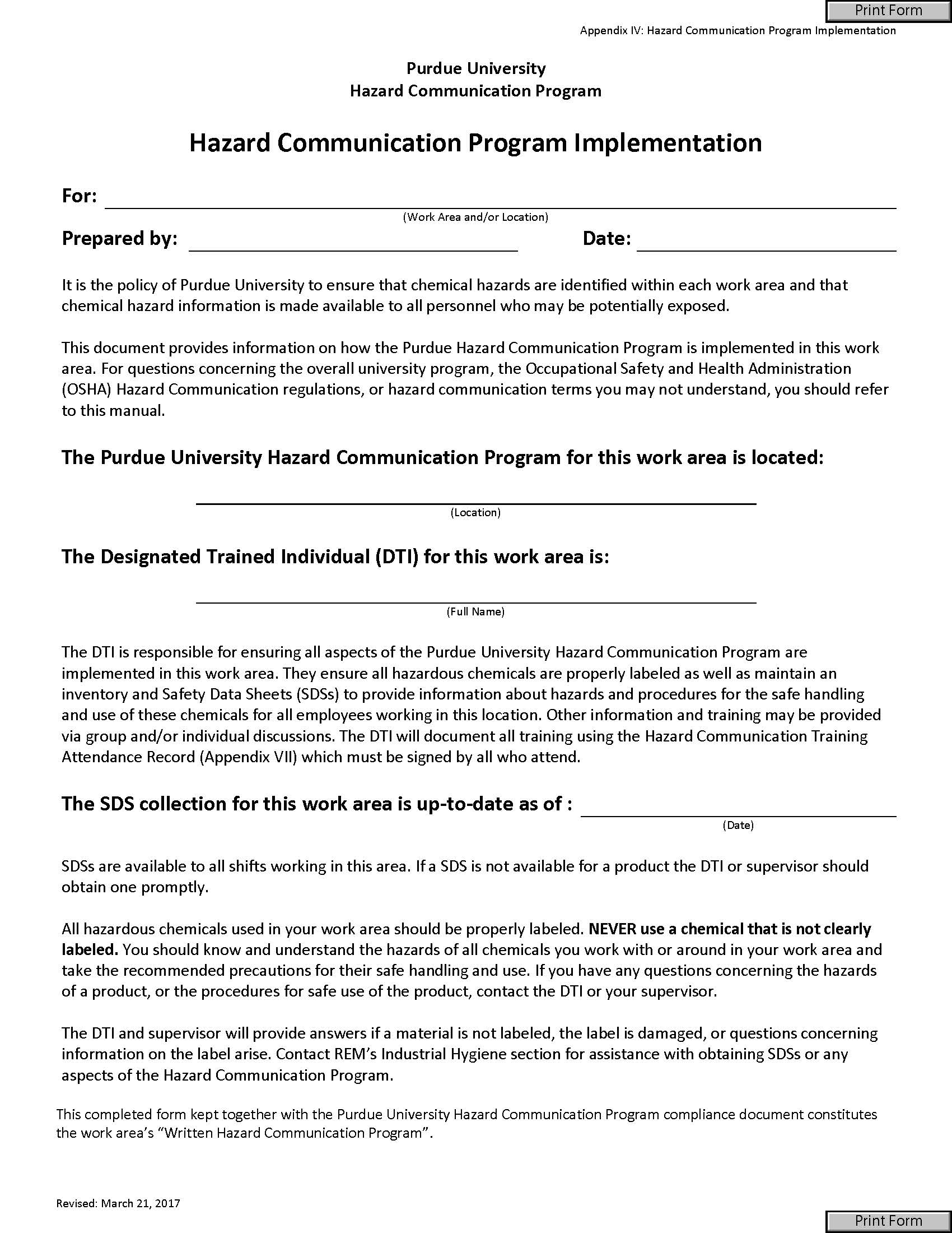 All Forms Radiological Environmental Management Purdue University