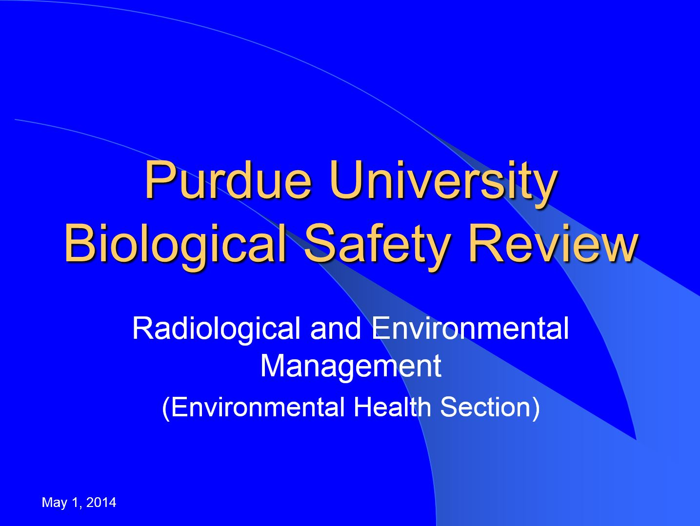 Training Radiological Environmental Management Purdue University
