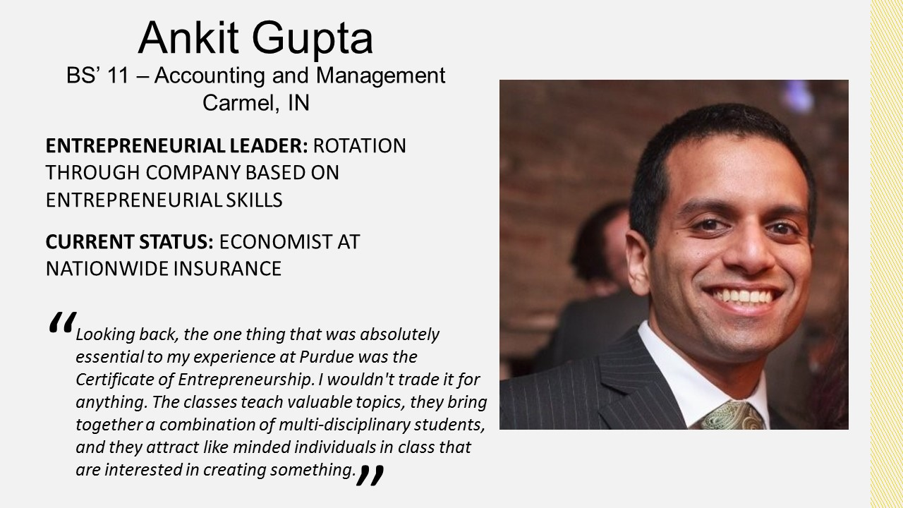 Ankit Gupta, Management 2011