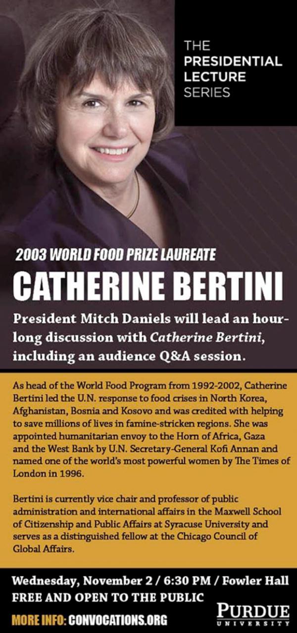Presidential Lecture Series: Catherine Bertini
