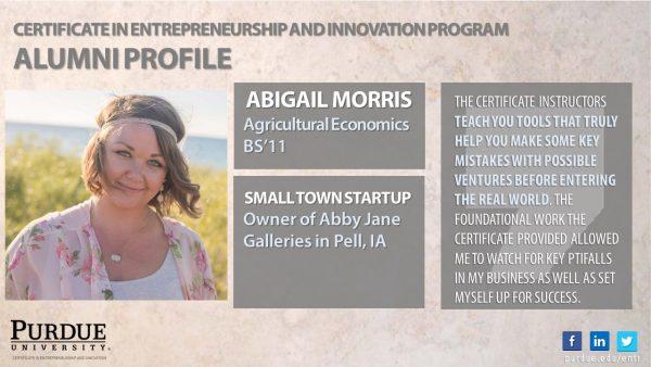 ENTR Alum - Abigail Morris