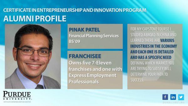 ENTR Alumn Success - Pinak Patel