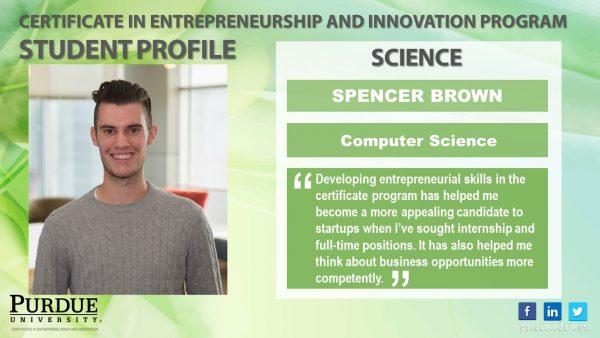 ENTR Student - Spencer Brown