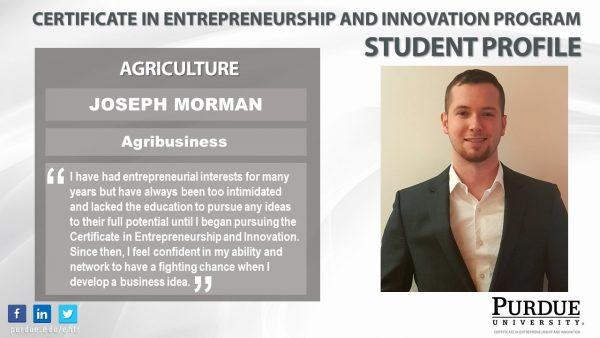 ENTR Student - Joseph Morman