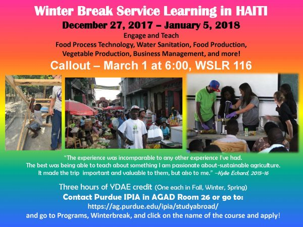Winter Break Service Learning in Haiti