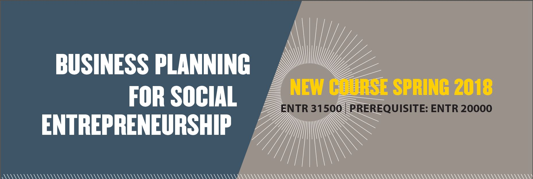ENTR 31500 New Course Offering - Social