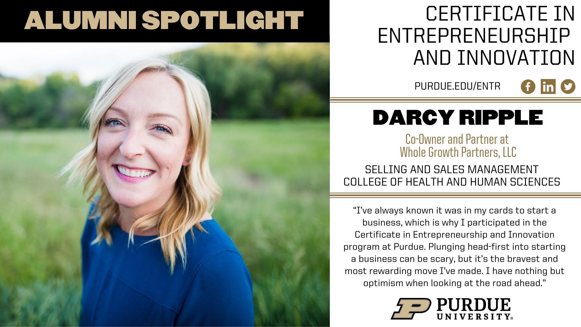 ENTR Alumna Darcy Ripple Spotlight