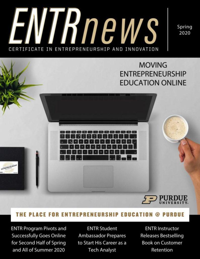 Certificate in Entrepreneurship and Innovation Spring 2020 Newsletter Cover