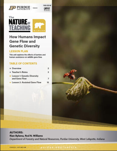 Nature of Teaching Curriculum: How Humans Impact Gene Flow and Genetic Diversity, FNR-619-W