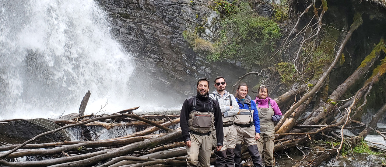 Chilean Colleagues Chiang, Espejo, Bahamondes, Patagonia, Chile
