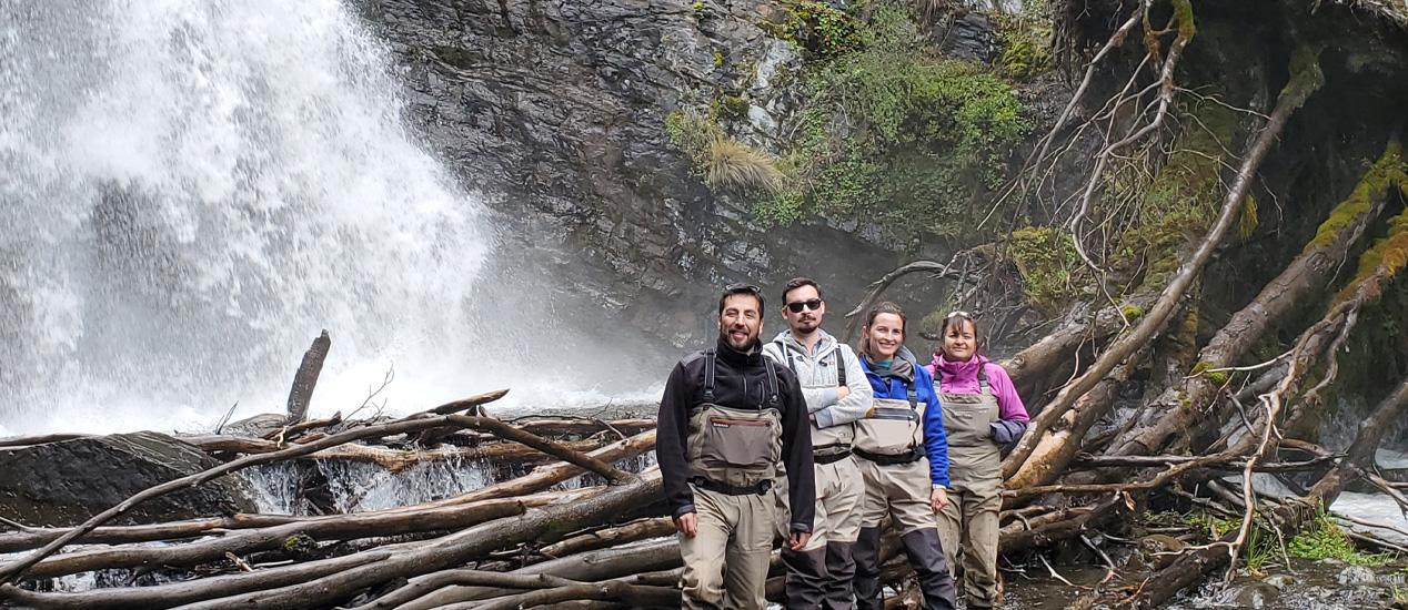 Chilean Colleagues Chiang, Espejo, Bahamondes, Patagonia, Chile