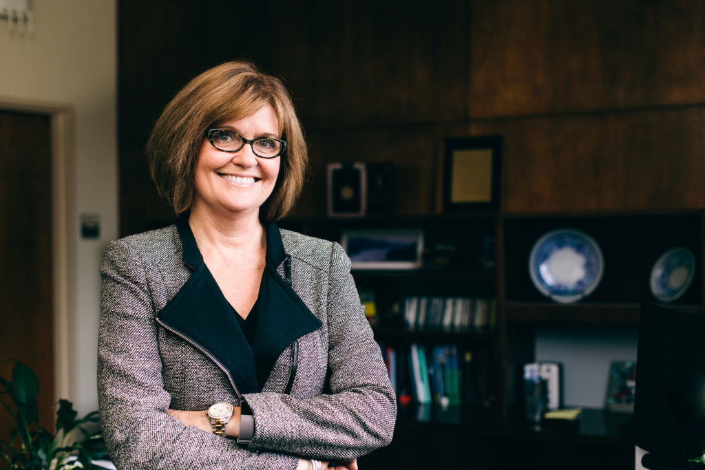 Marion Underwood, dean of College of Health and Human Sciences