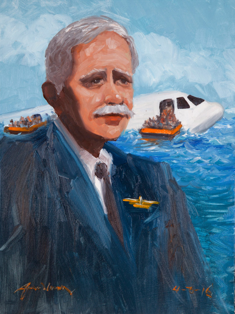 """Chesley """"Sully"""" Sullenberger lands in the Hudson"""