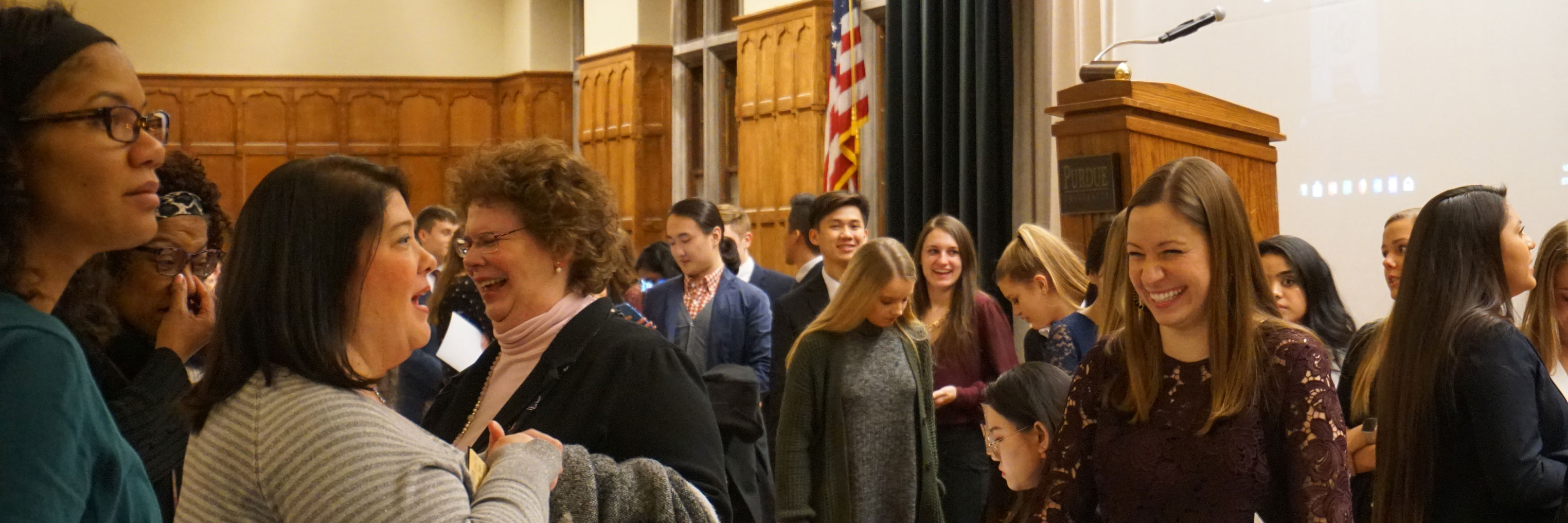 Student enjoying the Dean's Academic Recognition Reception