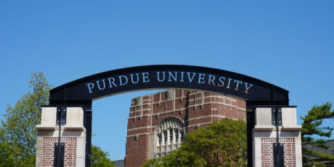 Purdue University arch