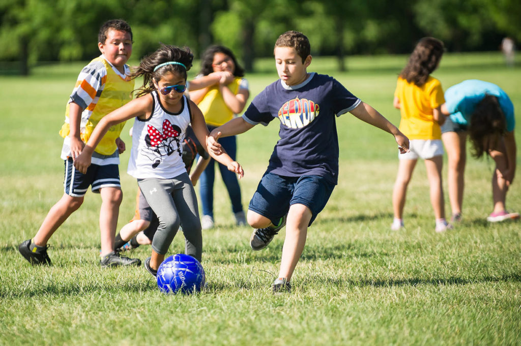PALS campers get physical activity which builds teamwork and promotes healthy lifestyles