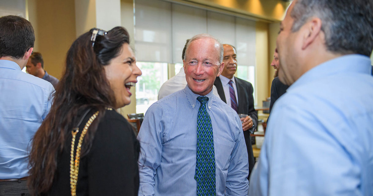 Mitch Daniels welcomes new faculty
