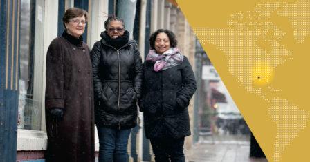 From left to right: Holly Schrank, Sandra Sydnor, and Maria Marshall