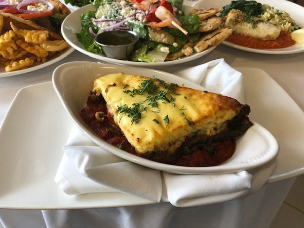 Sieber's Meatless Moussaka recipe (pictured above), which was featured on the John Purdue Room's menu in March, accommodates special dietary needs in providing a meat-free option. Photo provided.