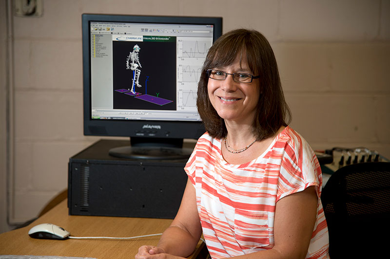 Shirley Rietdyk, professor of health and kinesiology in Purdue University's College of Health and Human Sciences.