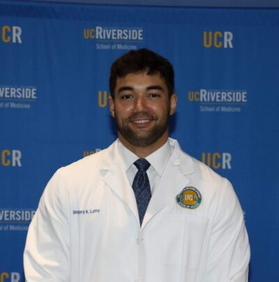 Gregory Latta, a Purdue Health and Kinesiology alumnus, is entering his fourth year of medical school at the University of California, Riverside.