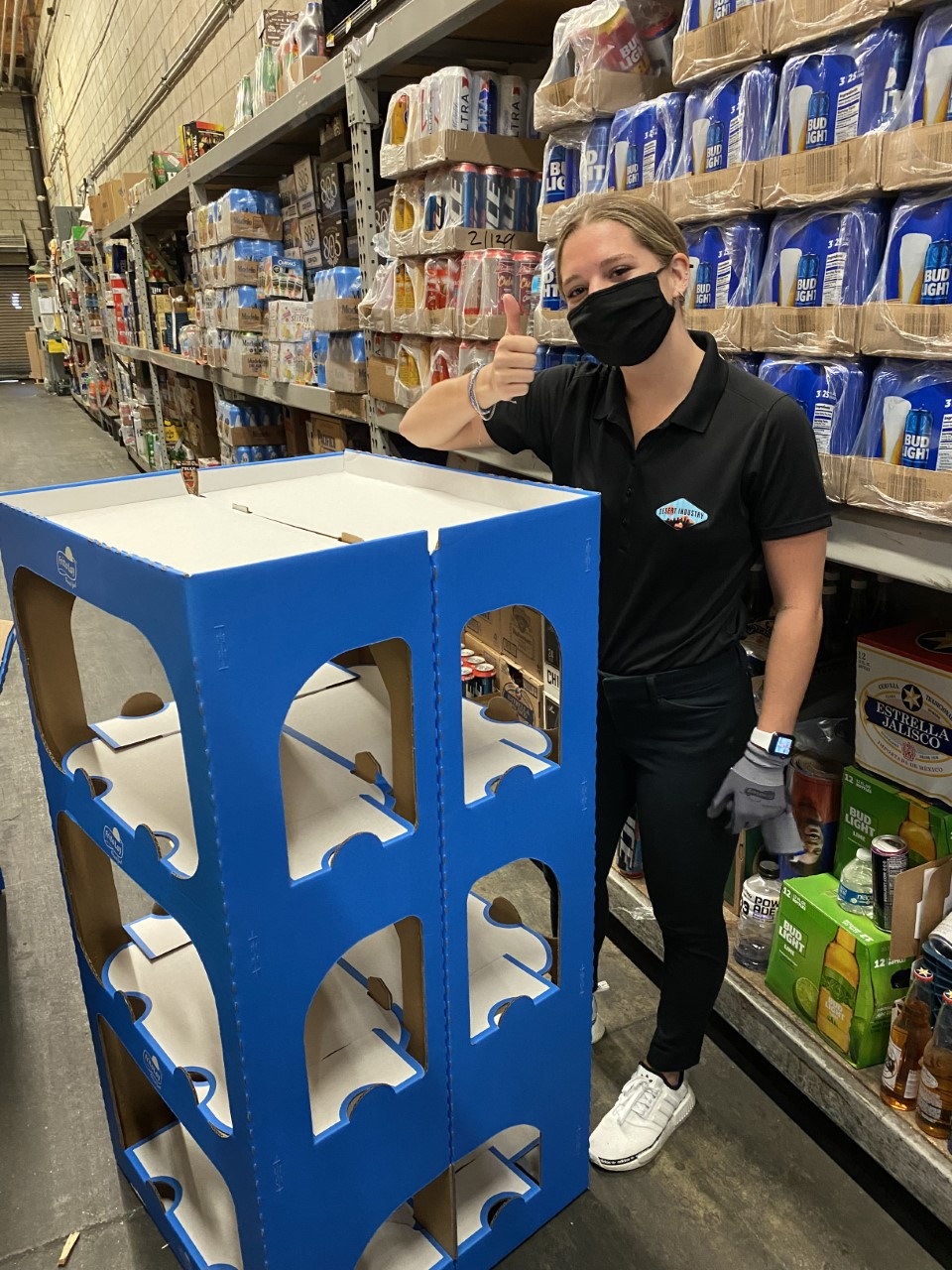 Aubrey Kuhn poses for a picture inside a Los Angeles-area grocery store during her summer internship with Frito-Lay.